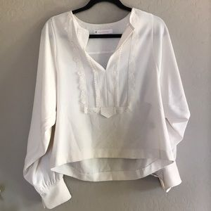 see by chloe cream blouse Sz 36/6